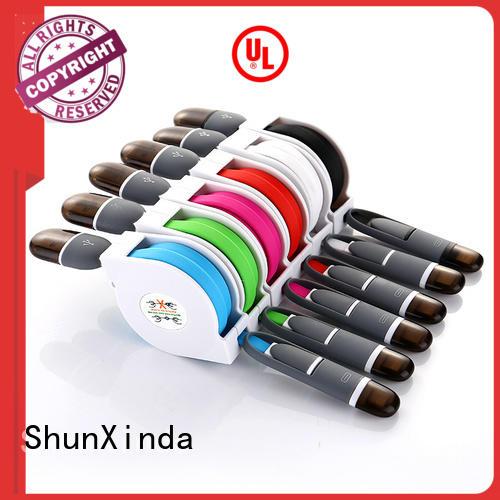 coiled long ShunXinda Brand retractable charging cable factory