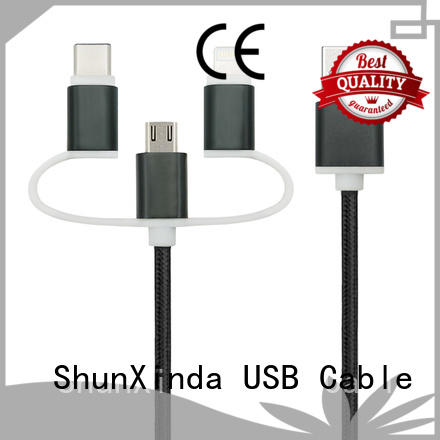 ShunXinda Brand data popular coiled multi charger cable