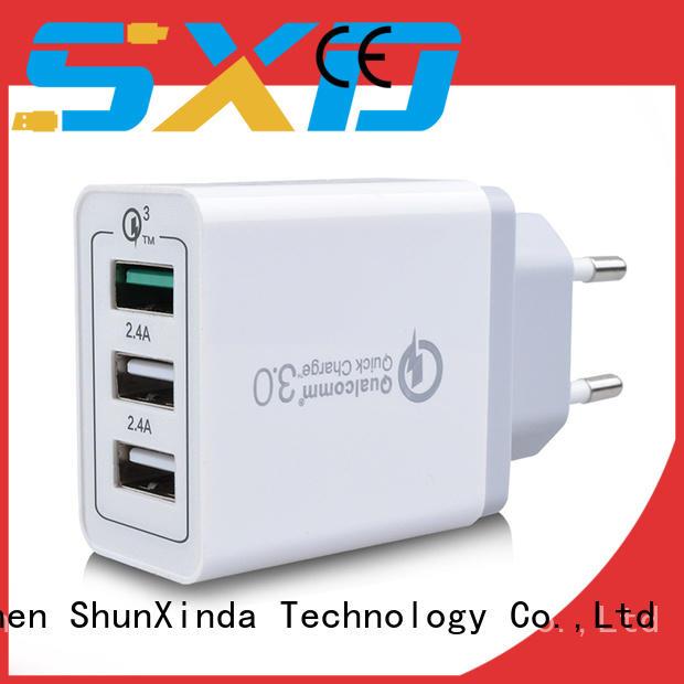 Universal US EU UK AU QC 3.0 wall charger 3 usb travel adapter usb charger SXD081