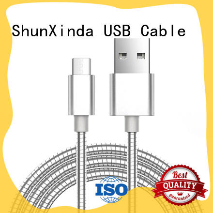Stainless steel Metal springfast charging usb cableSXD002