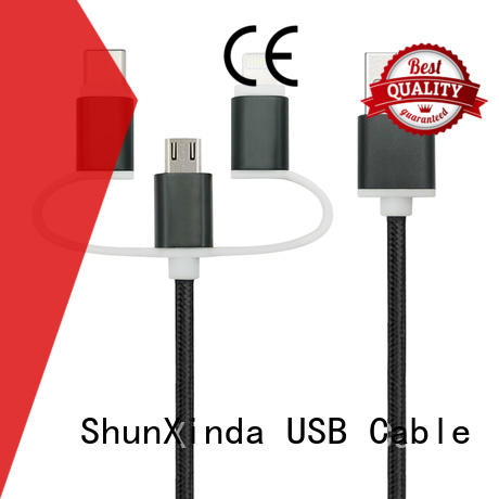 Custom braided multi charger cable fast ShunXinda