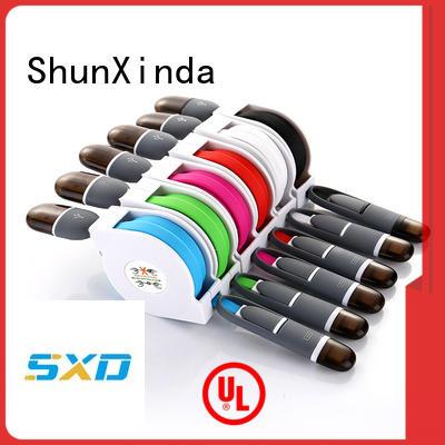 Hot pu retractable charging cable samsung ShunXinda Brand
