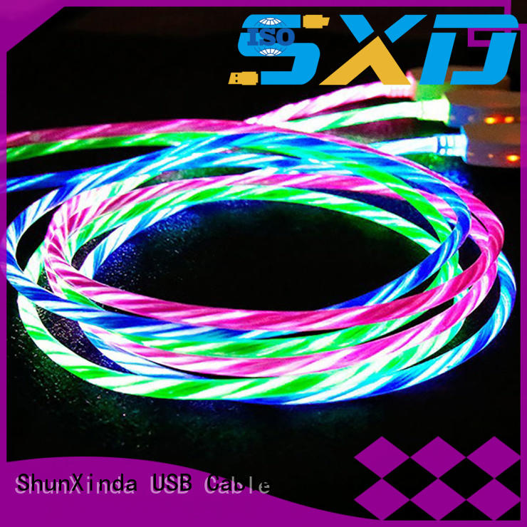 ShunXinda Brand pin pu usb data iphone cord