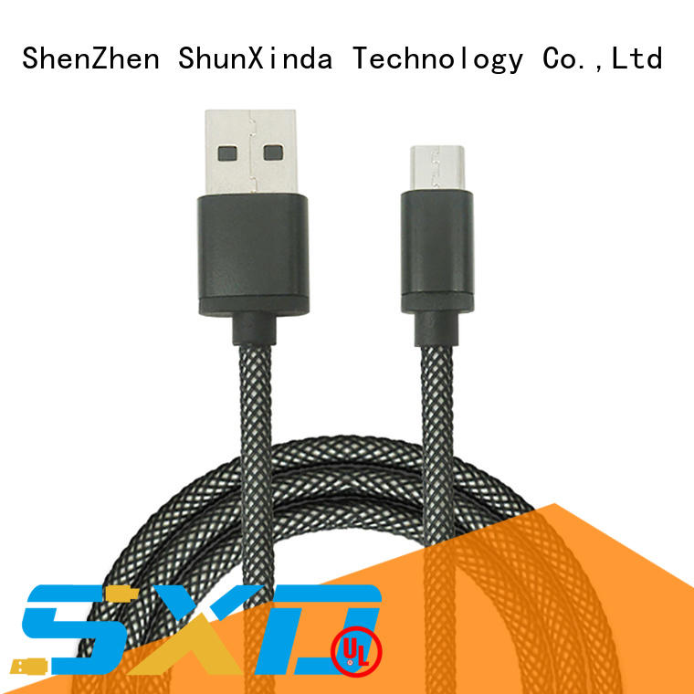 1M/2M/3M charging sync data fishnet braided micro usb cable for Android Samsung SXD119