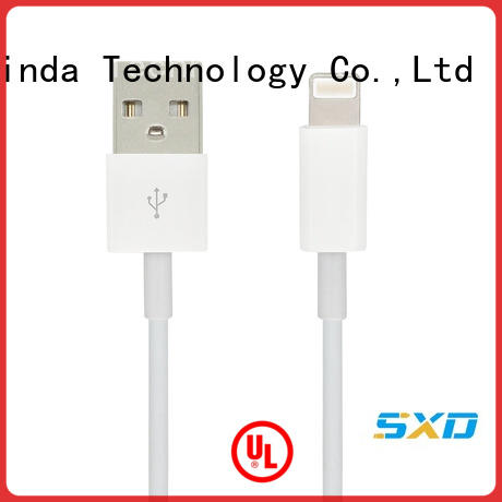 compatible arrival data ShunXinda Brand iphone usb cable oem manufacture