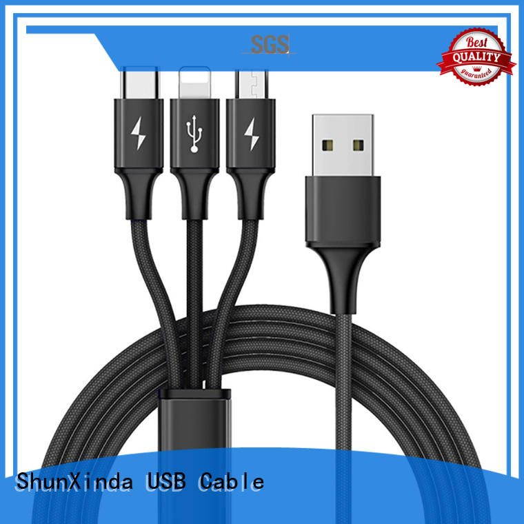 retractable charging cable android phone lanyard ShunXinda Brand multi charger cable