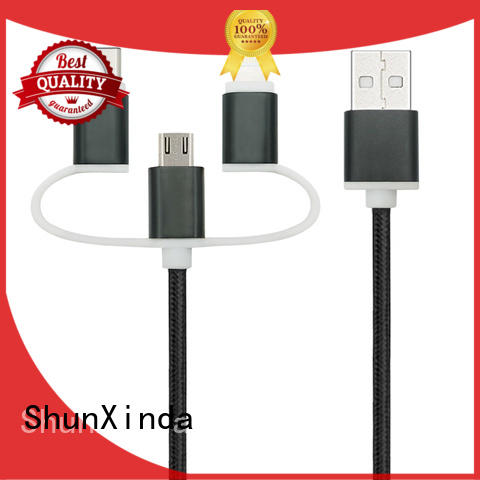 ShunXinda Brand cloth fast multi charger cable nylon factory