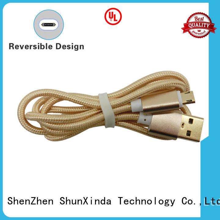 fabric fast iphone usb to micro usb ShunXinda Brand company