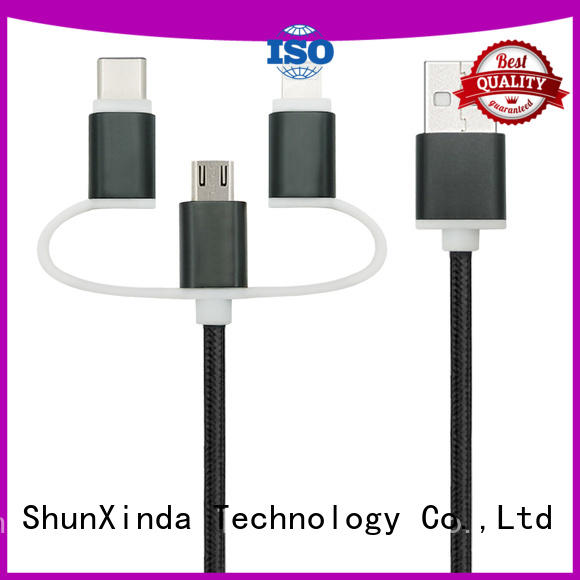 phone charging magnetic multi charger cable pu ShunXinda