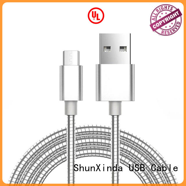 wireless spring micro car ShunXinda Brand long micro usb cable manufacture