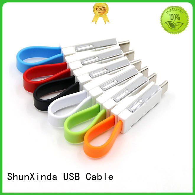 Wholesale keychain retractable charging cable ShunXinda Brand