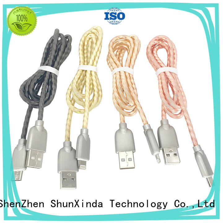 ShunXinda compatible apple lightning to usb cable factory for indoor