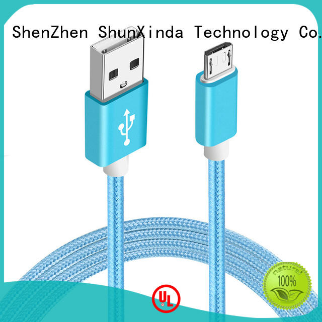 ShunXinda fast micro usb charging cable factory for home