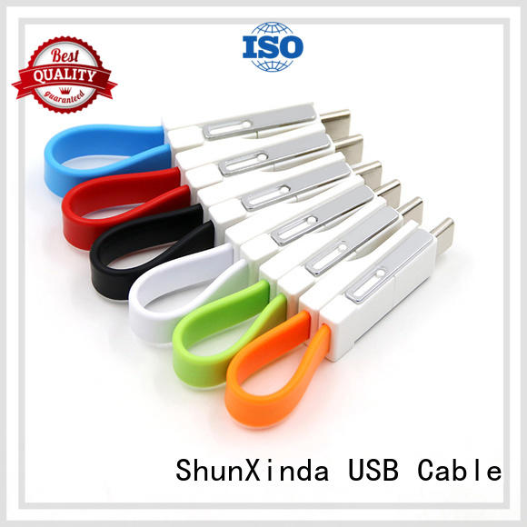 Custom coiled samsung multi charger cable ShunXinda retractable