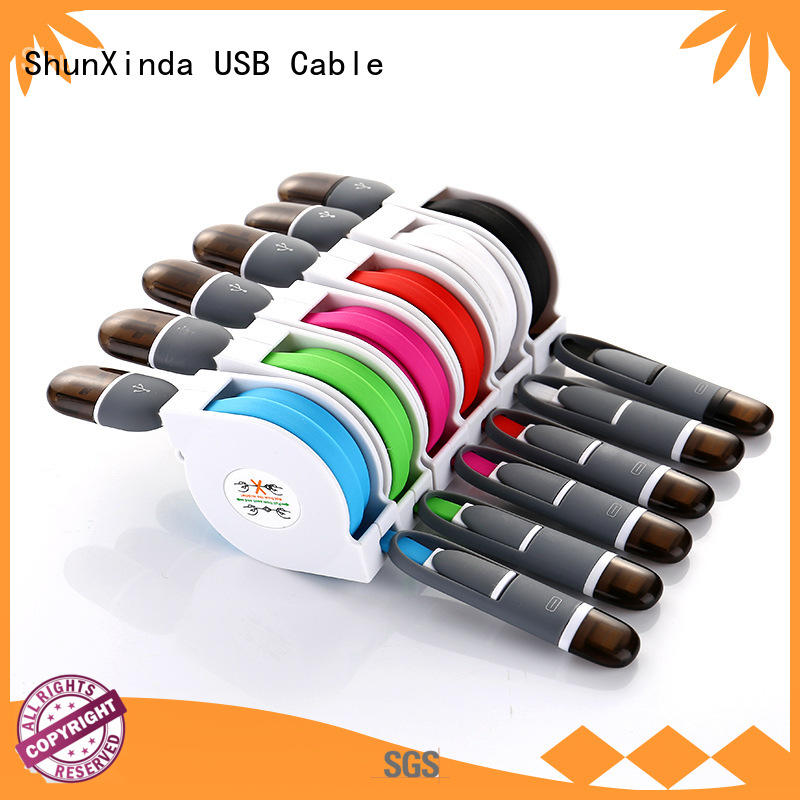 functional fast multi charger cable promotional ShunXinda