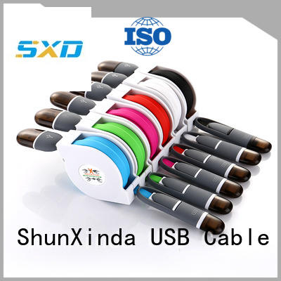 phone android cloth ShunXinda Brand retractable charging cable manufacture