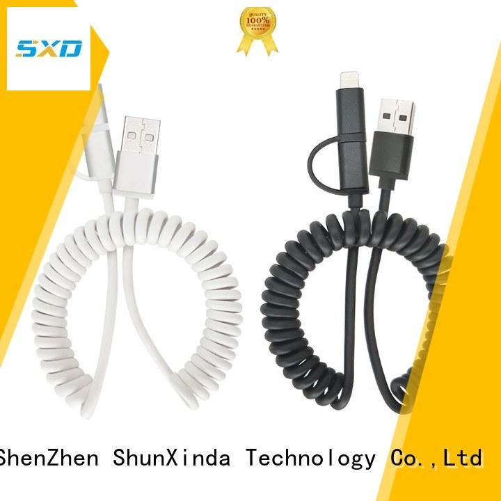 long nylon retractable charging cable ShunXinda Brand