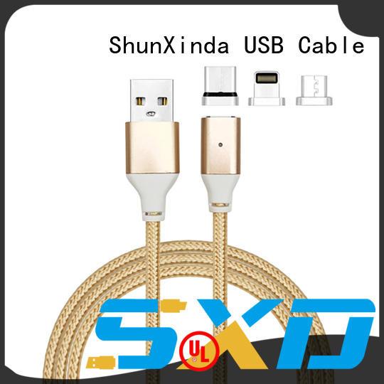 portable Custom nylon pin multi charger cable ShunXinda cloth