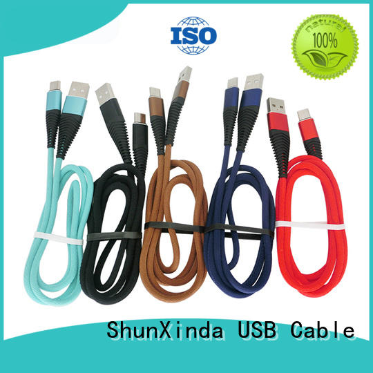 ShunXinda braided Type C usb cable supplier for home