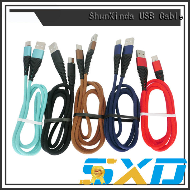 ShunXinda braided Type C usb cable manufacturers for indoor