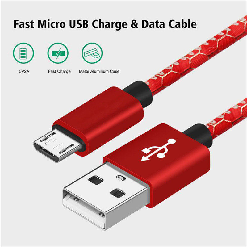 ShunXinda -Colorful Leather Pattern 1m Micro Usb Cable For Android | Shunxinda-2