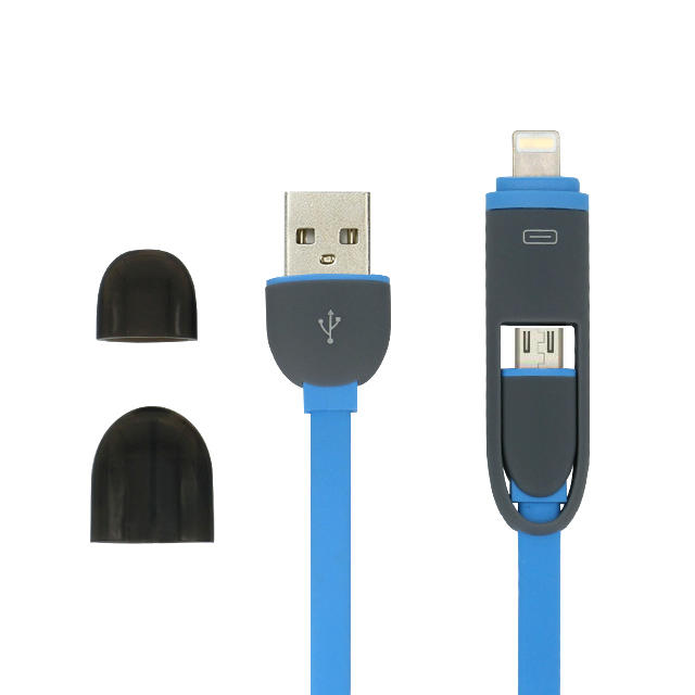 2 in 1 charging cable multi lightning micro usb data cable for mobile phone
