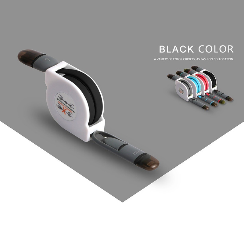 ShunXinda -Find Wholesale Retractable Usb Cable丨 2 in1 Micro Usb cable-7
