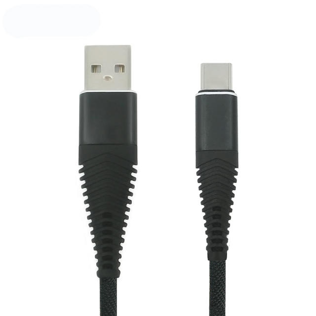 Durable braided fast charging type C usb data cable for Samsung C mobile phone SXD140