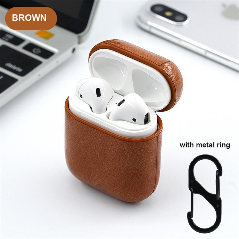 Leather airpods cover case for airpods