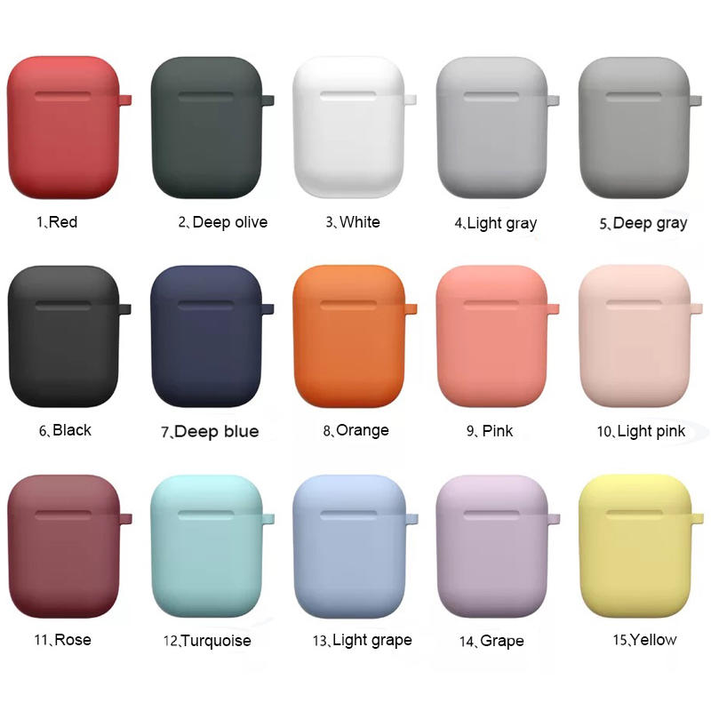 Thicker 2mm silicone airpods cover softer case for airpods earphone SXD1107