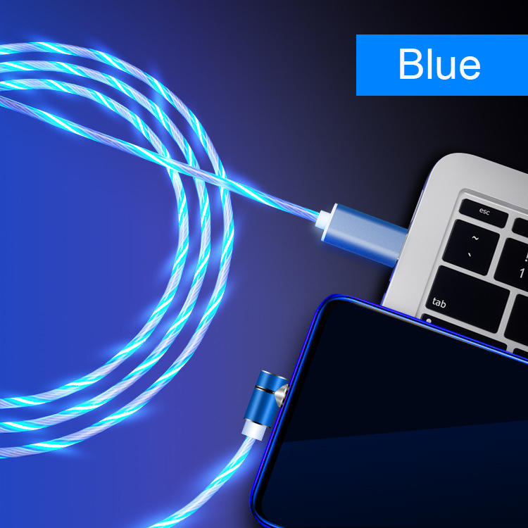 360 ° magnetic 3 in 1 led flowing charging usb cable with data transfer SXD146-2