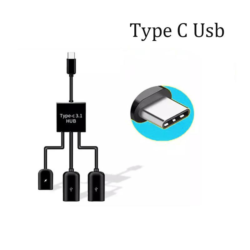 Micro male Type C  to 2 Usb OTG Hub 3 in 1 OTG  SXD148