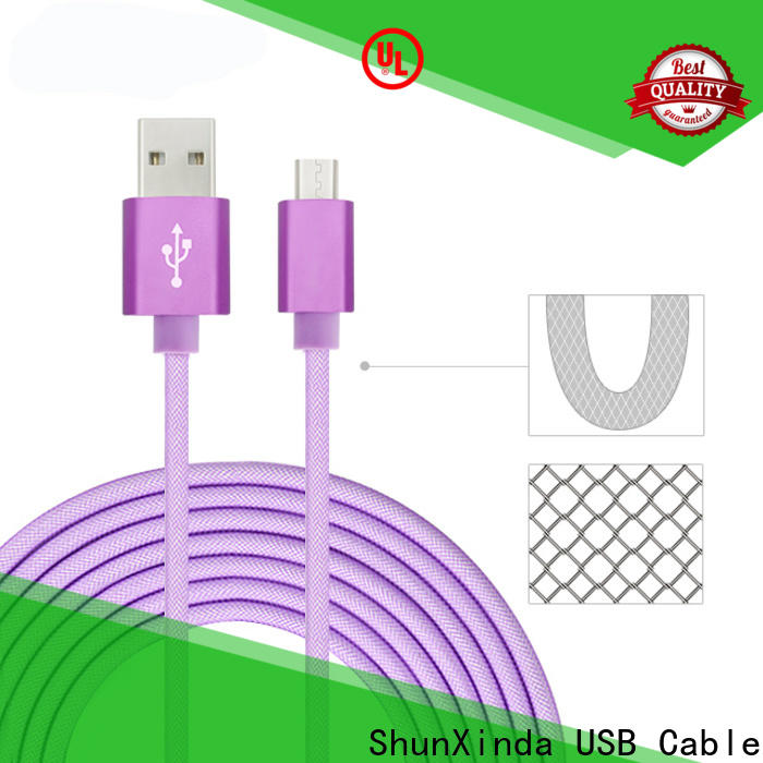 ShunXinda braided fast charging usb cable supply for car