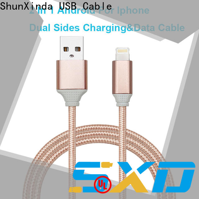ShunXinda retractable usb cable with multiple ends factory for home
