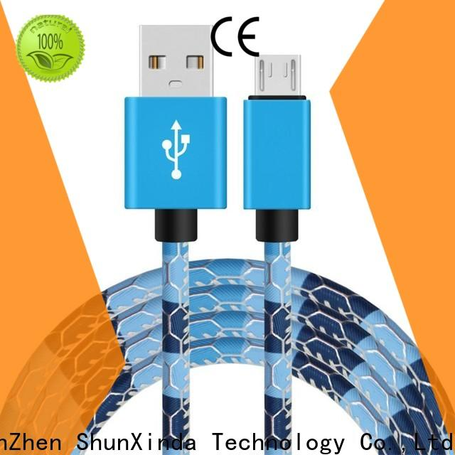 ShunXinda colorful micro usb charging cable suppliers for indoor