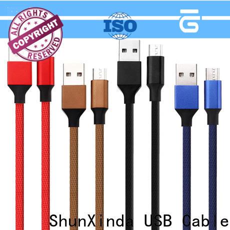 ShunXinda bank micro usb charging cable manufacturers for car