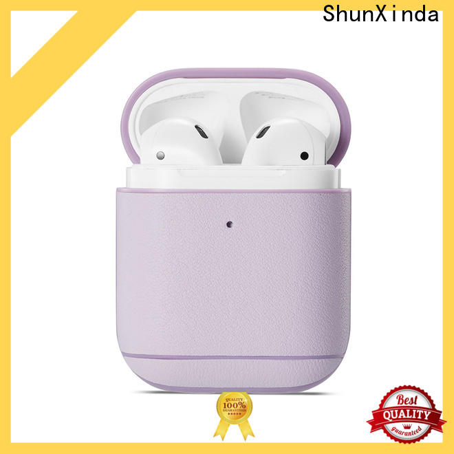 ShunXinda Custom leather airpods case for sale for airpods