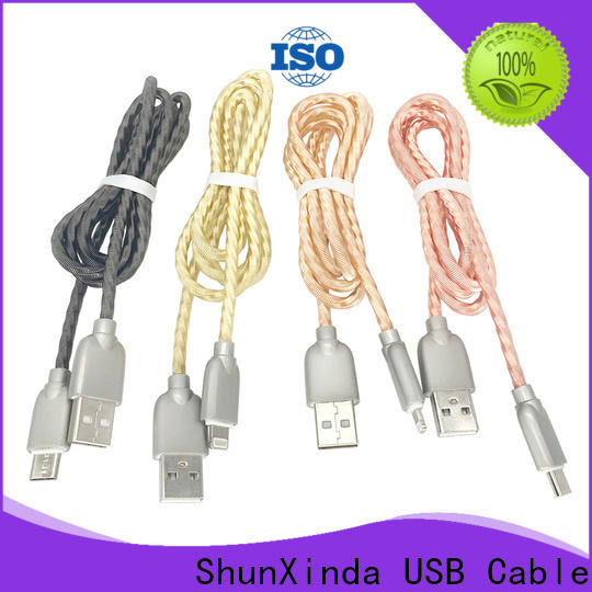 ShunXinda metal apple lightning to usb cable suppliers for car
