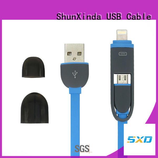 portable cloth pin retractable charging cable ShunXinda manufacture