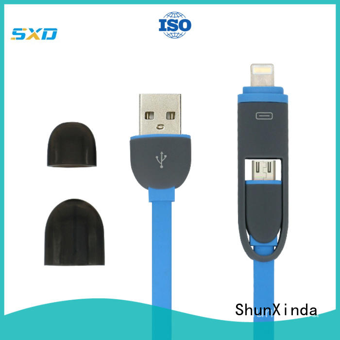 coiled durable promotional multi charger cable charging ShunXinda Brand