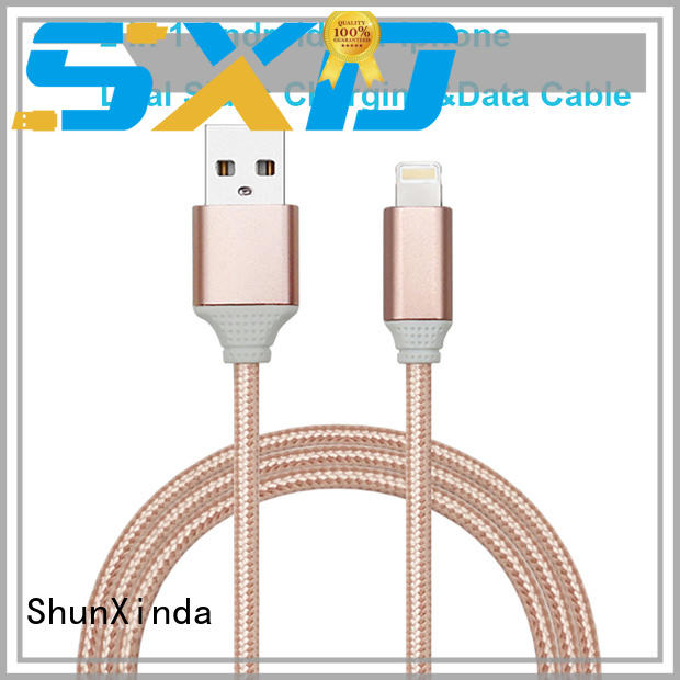 braided retractable usb cable series for car