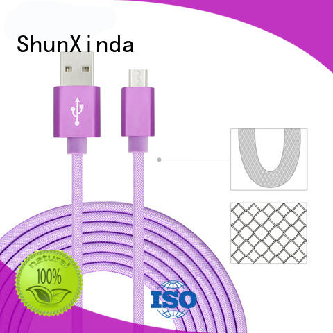 steel phone usb fast fast charging usb cable android ShunXinda Brand