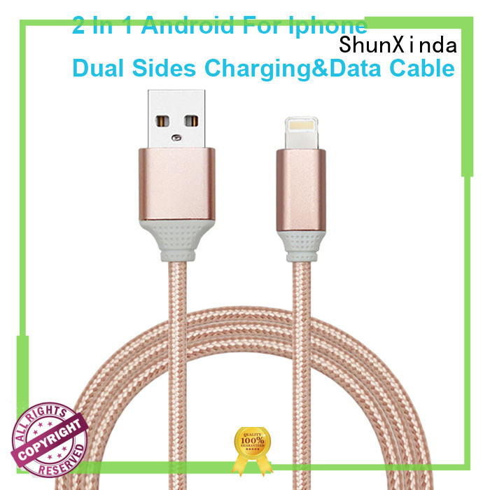 Custom coiled multi charger cable braided ShunXinda
