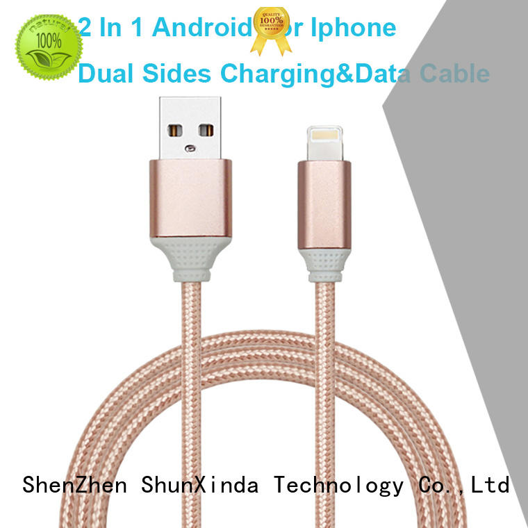 Wholesale retractable spring multi charger cable ShunXinda Brand