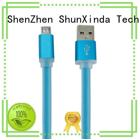 ShunXinda springfast micro usb charging cable data for car