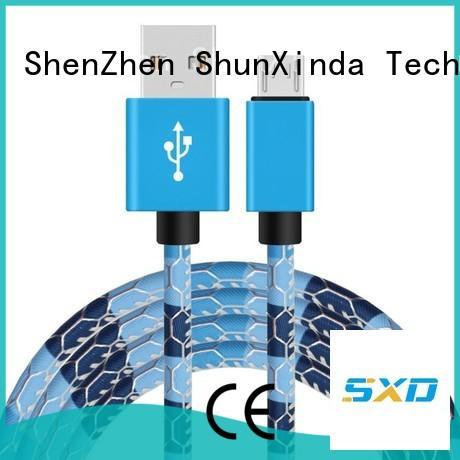 Wholesale spring micro long micro usb cable ShunXinda Brand