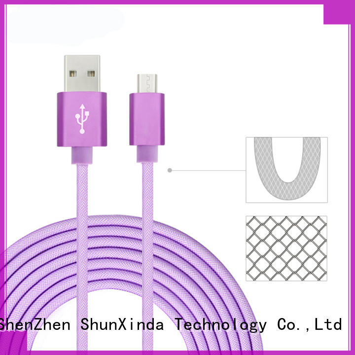 ShunXinda customized fast charging usb cable supply for indoor