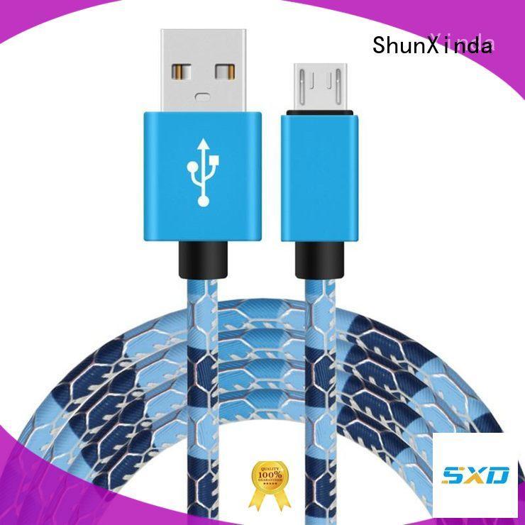 Wholesale degree long micro usb cable ShunXinda Brand