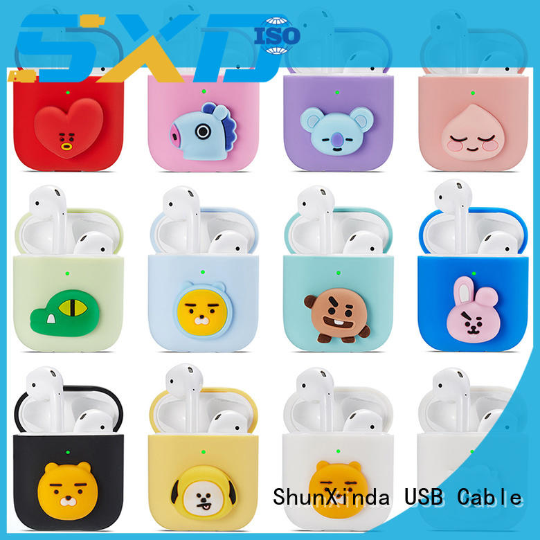 ShunXinda wireless charging case factory for apple airpods