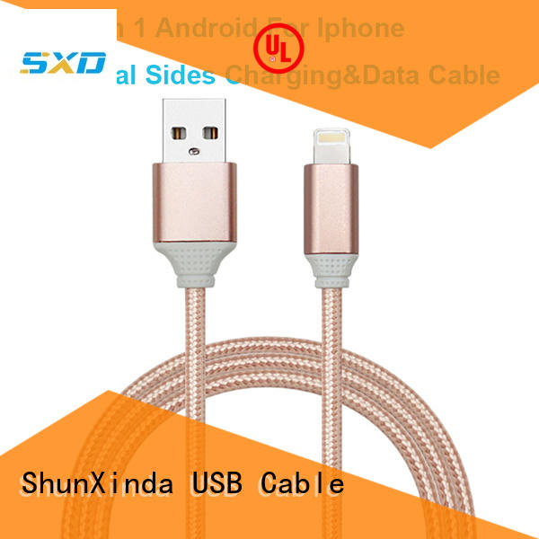braided retractable charging cable pin coiled ShunXinda Brand